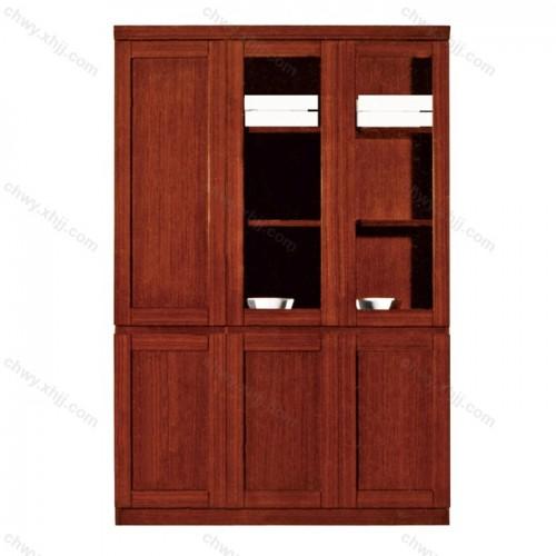 文件柜  实木皮油漆高书柜12
