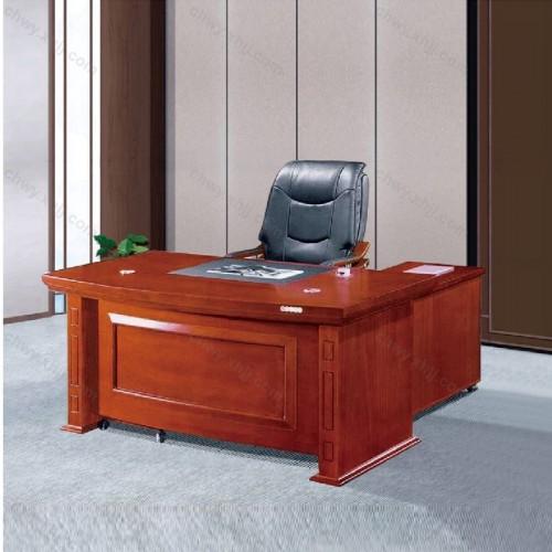 木贴皮大班台主管桌16