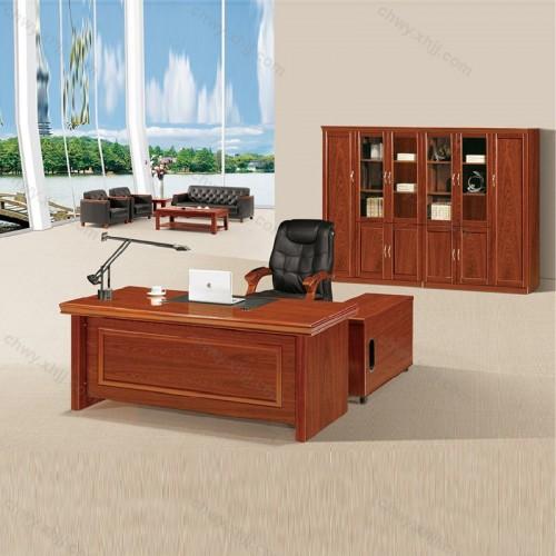 油漆实木贴皮老板桌21
