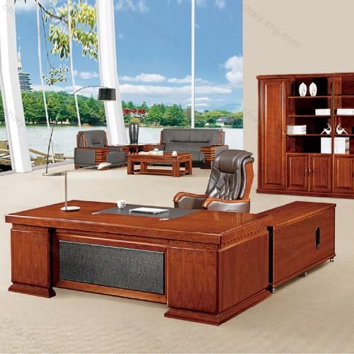 实木皮油漆老板办公桌24