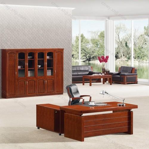 办公桌 油漆实木贴皮经理桌31