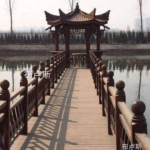 碳化木凉亭围栏木栈道栏杆六角亭子防腐木地板香河 (10播放)