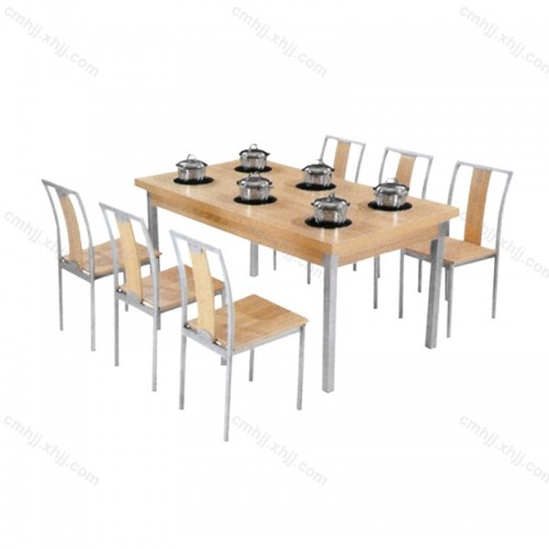 火锅店餐桌餐椅组合06