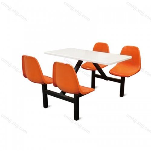 学校食堂四人连体餐桌椅10
