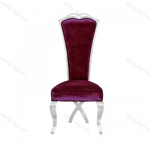 简约时尚绒布餐椅F-049