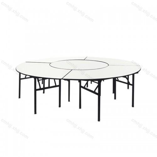 折叠圆桌宴会饭店对拼餐桌02