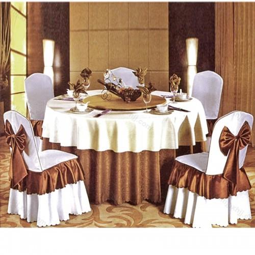 酒店餐桌带转盘圆桌D-006