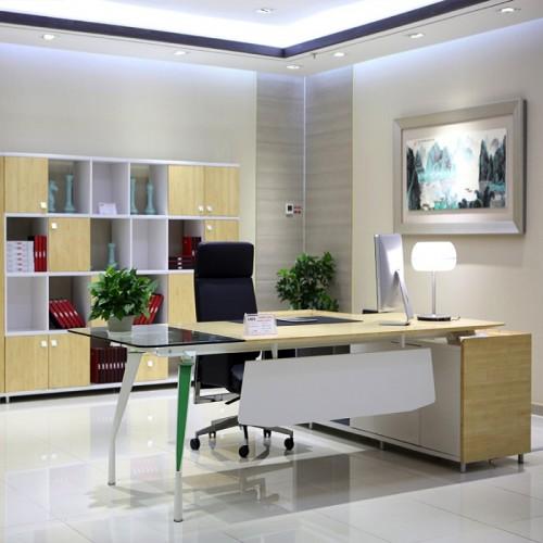 玻璃板式组合办公桌LM