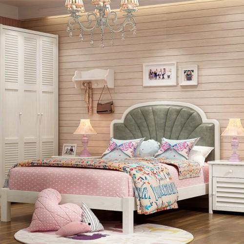 儿童卧室套房 女童公主套房软包床头单人床_维多利亚02