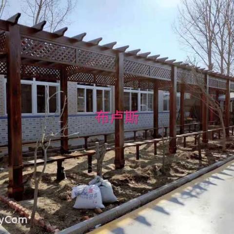 香河防腐木长廊葡萄架全实木走廊室外别墅小院设计图片 (12播放)