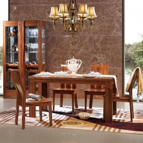 现代乌金木餐桌餐椅07