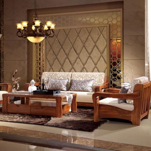 客厅实木沙发组合01