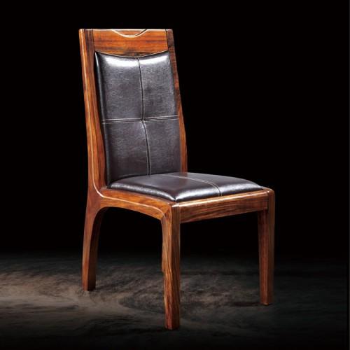 乌金木皮质餐椅03