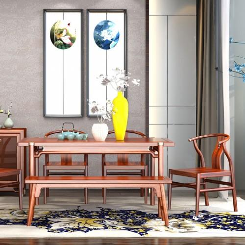 新中式乌金木餐桌餐椅05