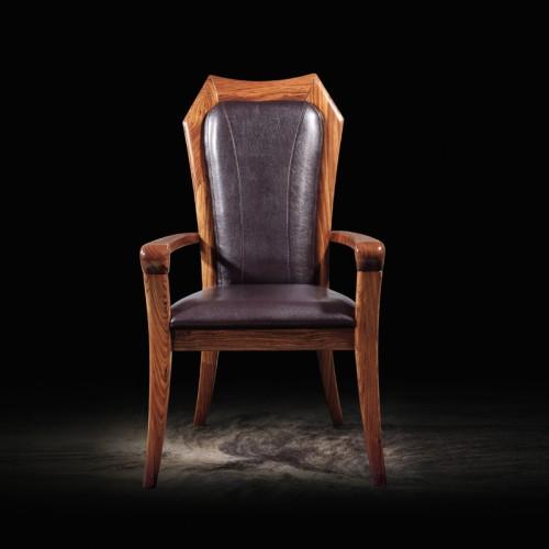 乌金木带扶手靠背书房椅01