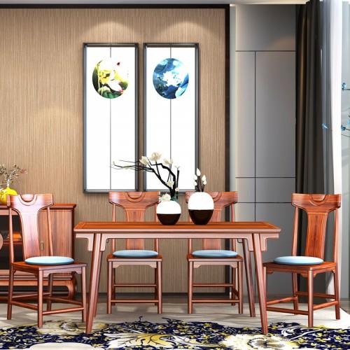 安达尔新中式乌金木餐桌椅09