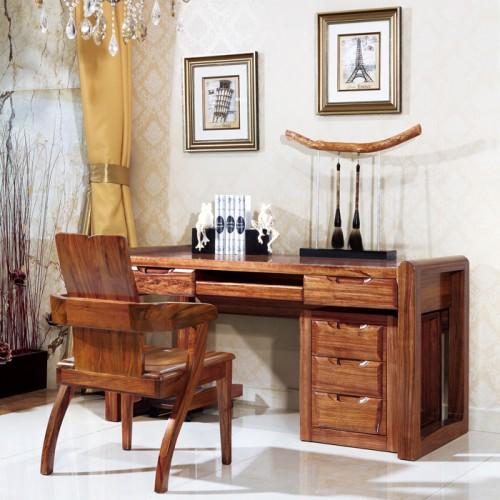 安达尔新中式乌金木书桌生产厂家05