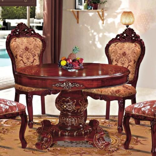 欧式古典描金圆餐桌餐椅生产厂家 912