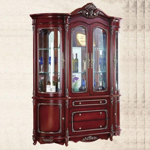 欧式玻璃门酒柜批发厂家   弧形酒柜
