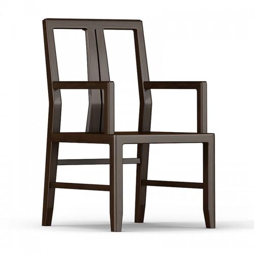 现代实木仿古扶手餐椅02
