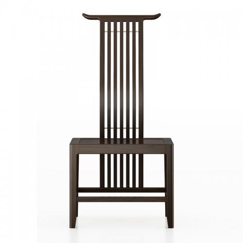 现代中式全实木高背餐椅04