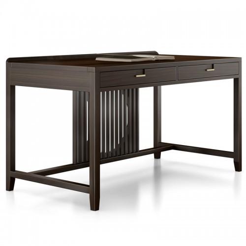 简约新中式实木书桌03