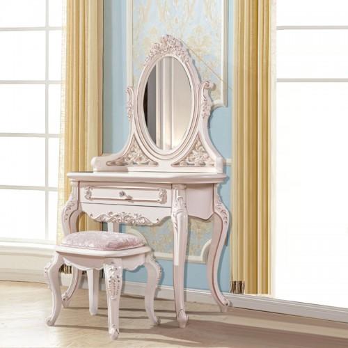 欧式雕花梳妆台梳妆镜生产厂家1802