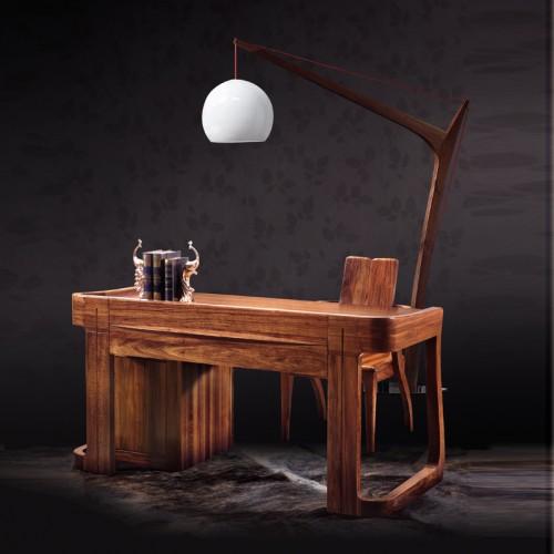现代中式乌金木书桌04