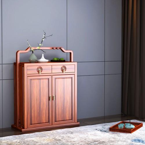 客厅新中式乌金木鞋柜06