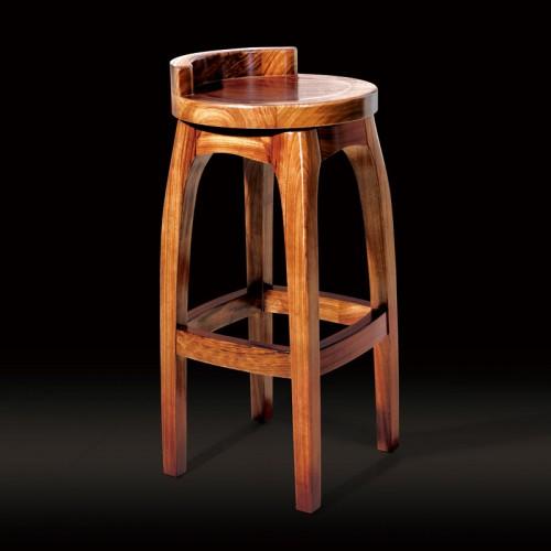 乌金木吧台椅复古高脚凳08