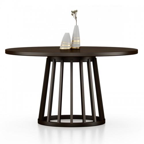 家用实木圆形餐桌08