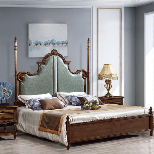 美式奢华古典双人床小美32