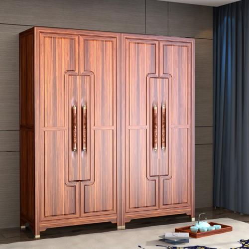 新中式衣柜整体乌金木衣橱12