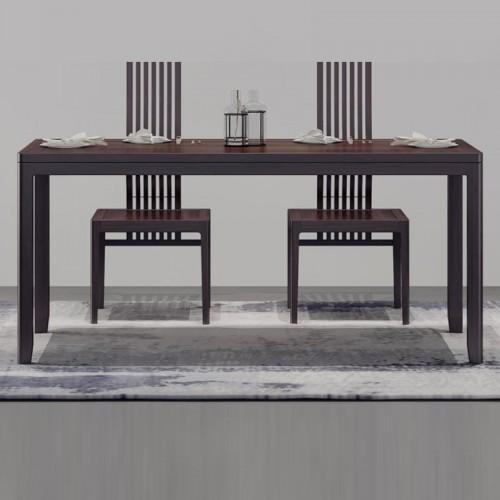 新中式禅意实木长餐桌09