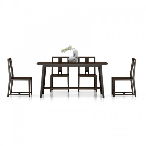 现代新中式实木餐桌椅组合11