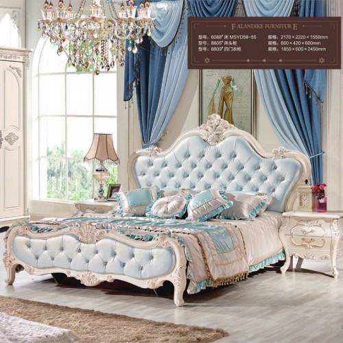 欧式公主床雕花双人床套房生产厂家6088
