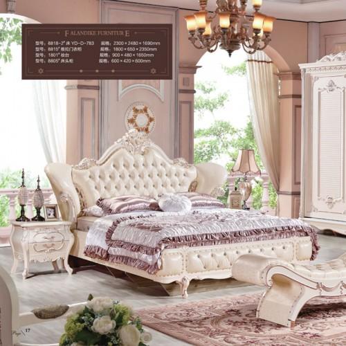 奢华家具欧式双人床套房生产厂家8818-2