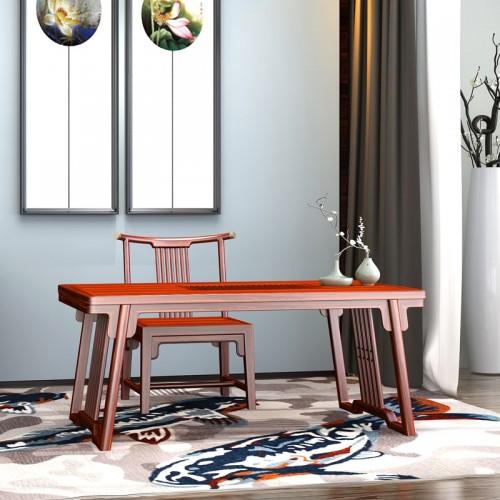 新中式乌金木客厅茶台茶椅16