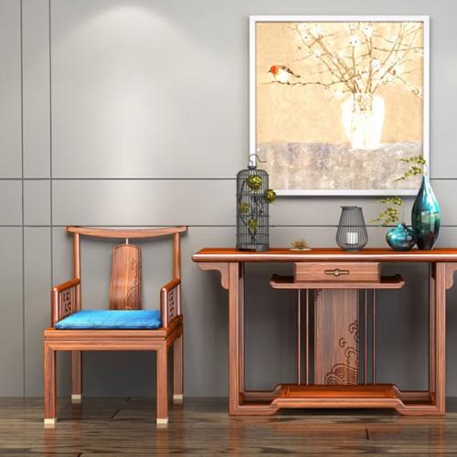 新中式乌金木太师椅三件套18