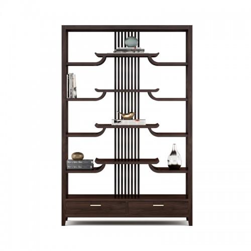 实木客厅展示柜装饰柜博古架14