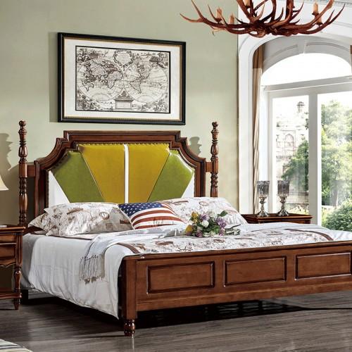 美式卧室软靠双人床 小美08