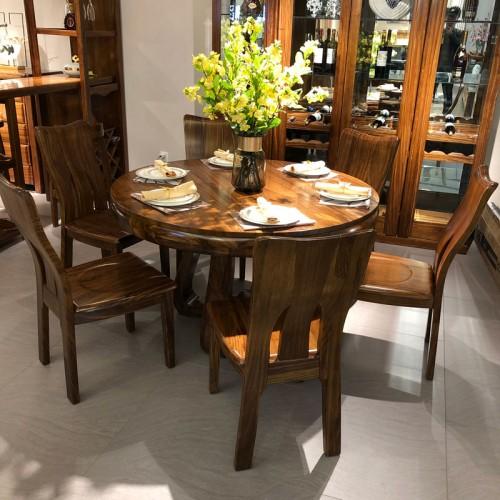 家用实木圆餐桌双层圆桌01