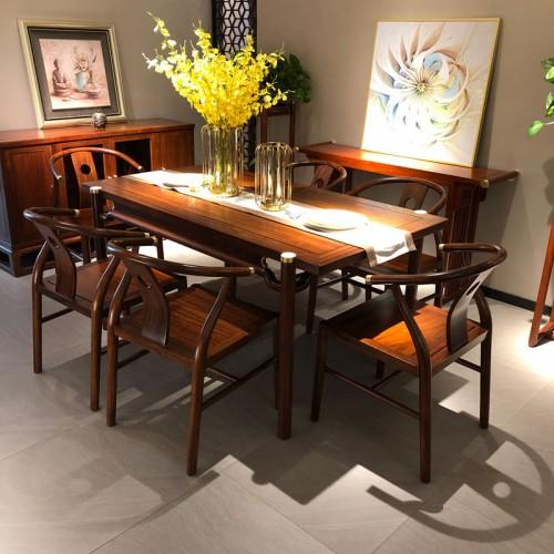 新中式餐桌椅实木长餐台02