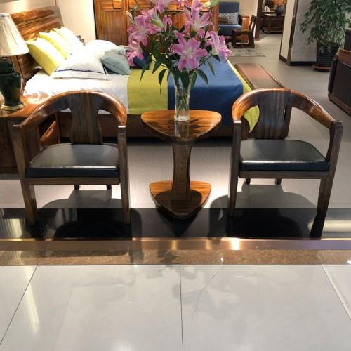 简约现代实木休闲桌椅06