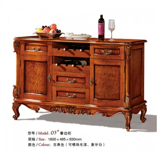 欧式古典实木餐边柜储物柜05