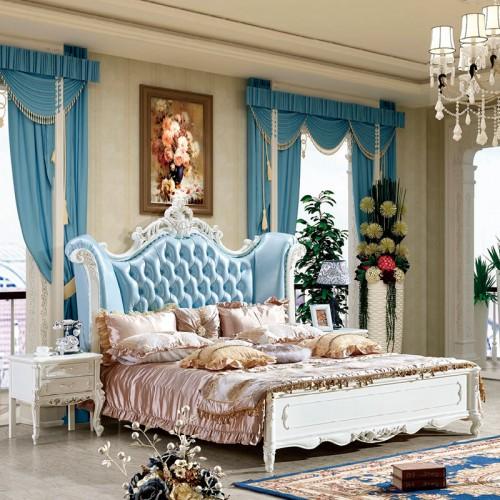 赫丰实木欧式双人床套房家具11