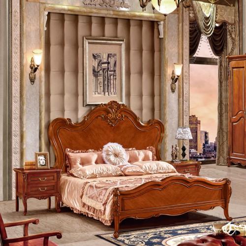 实木床头柜双人床套房家具10