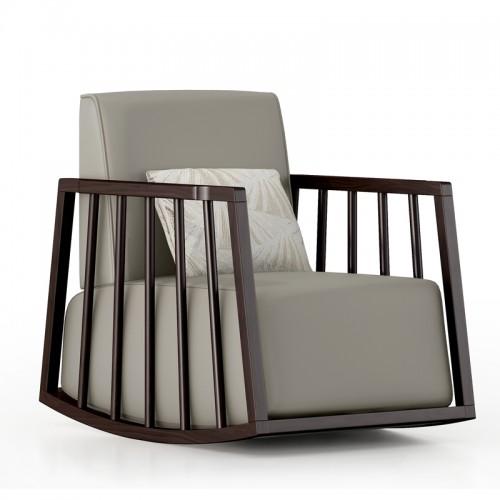 实木沙发椅摇椅单人休闲椅17