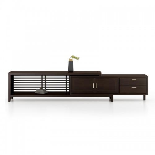 别墅新中式实木客厅电视柜32