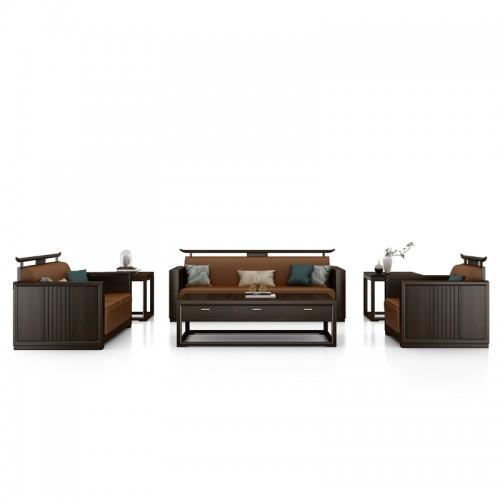 新中式沙发现代禅意实木沙发33